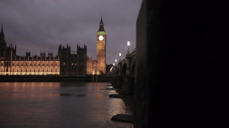 powerful : An evening shot of Big Ben and Westminster in London, England. Filmed on October 9, 2011.