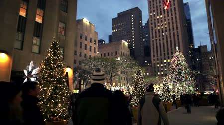 merkez : Christmas Decorated Square in New York.