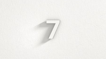 sıva : A simple ten second countdown with a minimalistic white plaster aesthetic. Stok Video
