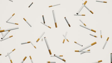 никотин : A looping array of cigarettes against a simple white background.