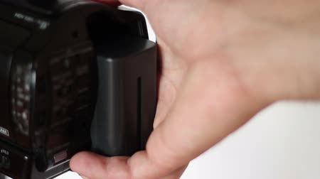 lasting : Li-Ion replacement battery in the back slot of a professional camcorder.