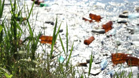 plastics : Switching focus from the herbs grown on the shore to the plastic garbage and scum tham pollute the lake environment.