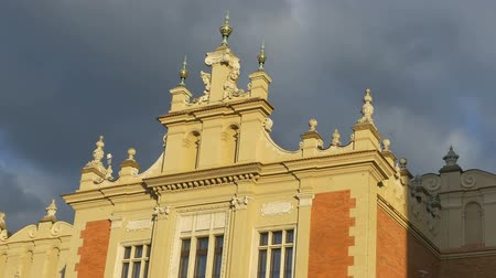 rynek glowny : Detail of roof of the Cloth Hall building, which dates to the Renaissance, from Krakow, Poland.