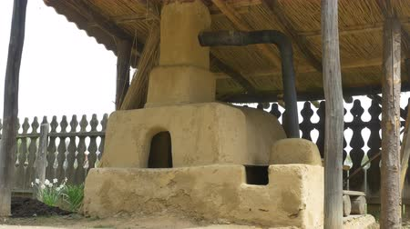 rundown : Ancestral clay built oven in coutryside.