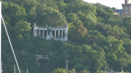 piskopos : View from distance of Gellert Monument in Budapest, Hungary.