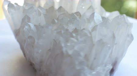 facets : View of Quartz geological rock sample.