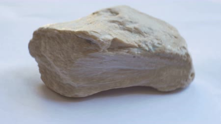 soapstone : View of Talcum geological rock.Talc or talcum is a clay mineral composed of hydrated magnesium silicate. Stock Footage