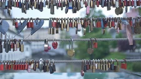 věčnost : Plenty of love locks in Ljubljana city.