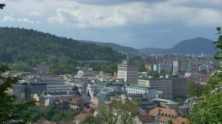 ljubljana : View of Slovenia Capital, the Ljubljna City in summer afternoon.