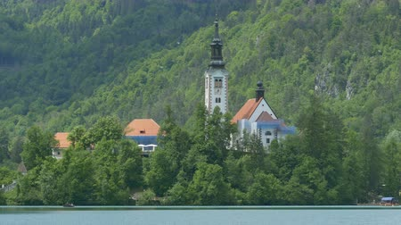 templomtorony : View of island Slovenian Lake Bled church.