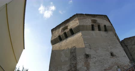 reconstructed : View of a medieval Saxon bastion in the fortress of Sibiu.