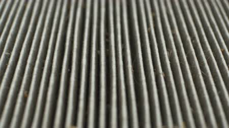 filtro aire : View of an long time used dirty air filter of an automobile.