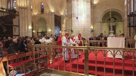 liturgy : MURCIA,SPAIN-MARCH 20,2016: Act of worship during Mass Dominica in Palmis  on March 20,2016 in Murcia,Spain.