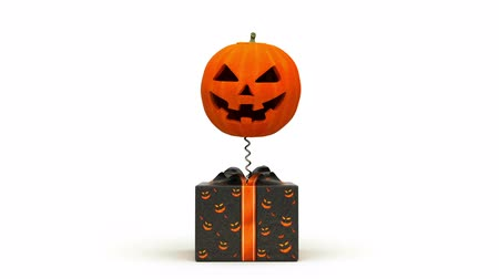 október : Halloween Pumpkin jumps out of the box.