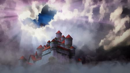 zamek : Castle above the clouds . Wideo