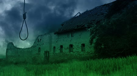 assombro : Scary abandoned farmhouse in the countryside. Vídeos