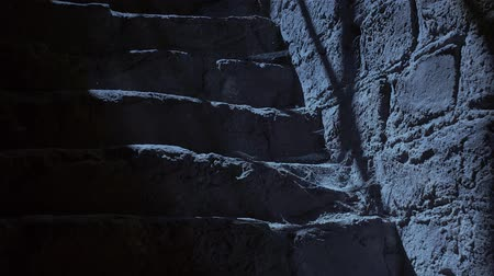 готический : Ancient stairs at night.