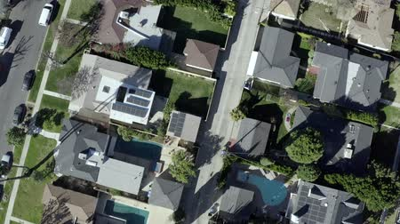 los angeles skyline : Aerial birds eye view, Van Nuys neighborhood suburb in Los Angeles, California