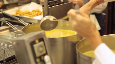 top chef : Mixing Soup Stock Footage