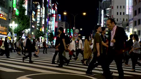 к юго западу : Japan Tokyo Shinjuku Kabukicho  people crossing the street  October 2017