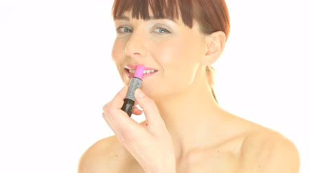 ruj : Woman Applying Lipstick