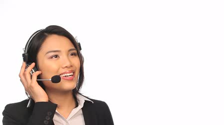 complaints : Portrait of beautiful smiling Call Center Agent