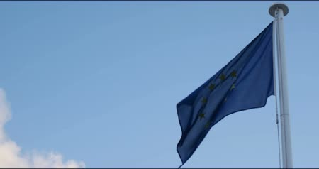 avrupa birliği : EU flag on the wind