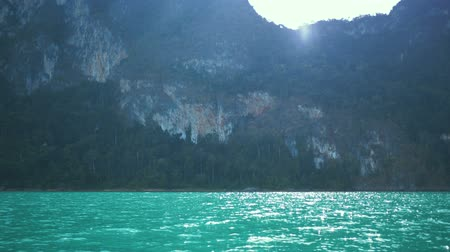 surat : Beautiful view mountain lake and river from boat in Ratchaprapa dam, Khoa Sok National Park, Surat Thani, Thailand