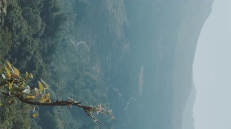 znicz : Vertical view of mountains landscape and sky in summer day on Bali, Indonesia