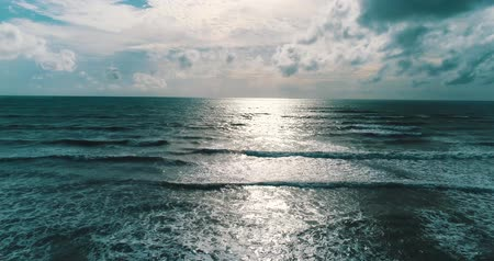 anten : Aerail drone view of beautiful sea over cloudy sky background