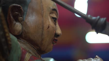 imperatore : Closeup statue of god in Chinese temple, Thailand