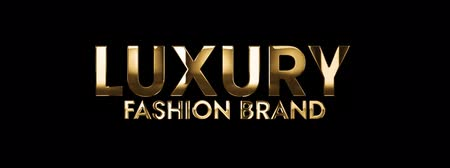 érték : Luxury fashion brand - text animation with gold letters over black background Stock mozgókép