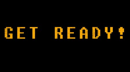 kazık : GET READY! - text animation with yellow letters over black background