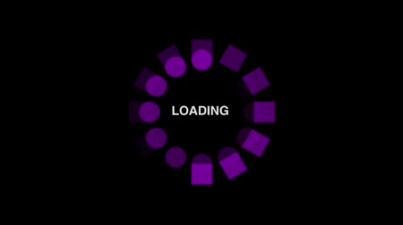 tampon : Loading circle icon on black background - animation Stok Video