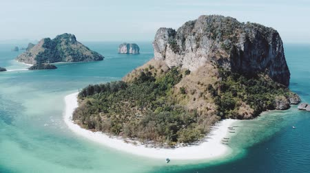 kalker : Aerial drone view of beautiful tropical Poda Island in Thailand