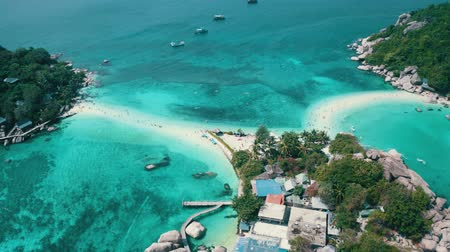 surat : Aerial drone view of beautiful Koh Tao island in Thailand