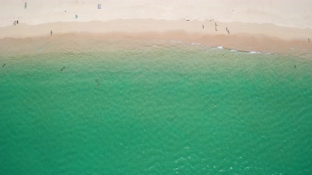 recife : Aerial drone top view of beautiful tropical white sand beach and turquoise sea water