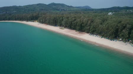 nyaraló : Aerial drone view of tropical Layan Beach area in Phuket, Thailand Stock mozgókép