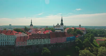 Észtország : View of the old city of Tallinn, Estonia