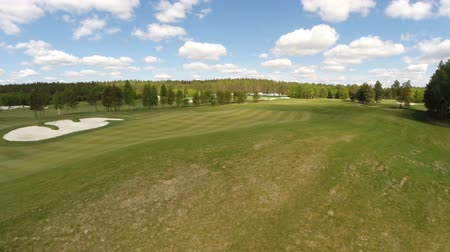 поле для гольфа : Aerial view of the Golf course