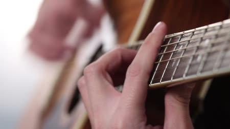 jazzman : Mans hand playing guitar