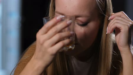 wasted : Boozer woman feeling dizzy after too much alcohol