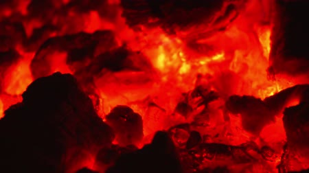 inflammable : burning embers Video Stock Footage