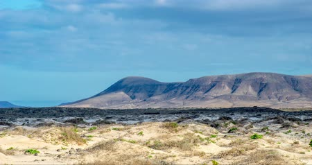 fuerteventura : Timelapse Video Light games in the beautiful volcanic landscape near El Cotillo