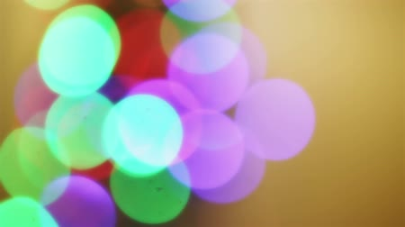 oŚwietlenie : Many abstract christmas lights blinking colorful in different colors Wideo