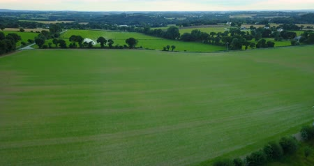 brittany : Coutryside aerial view of Brittany, France fields landscape (4k) Stock Footage