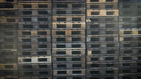 fermenting : stack pallets on the factory territory