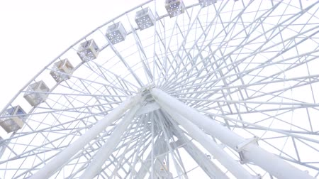 Ferris wheel in Kyiv in foggy weather