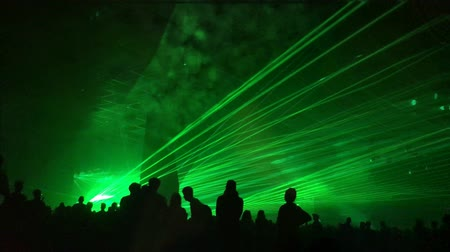eufória : Cinemagraph - green laser rays at a party. Psychedelic effect