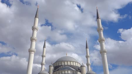 modlitba : The Azan, a call to the prayer, in Kocatepe Mosque in Ankara Turkey